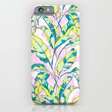 Neon Banana Leaves Slim Case iPhone 6s