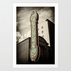 Portland Oregon Marquis Art Print