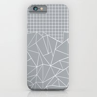 iPhone & iPod Case featuring Abstract Outline Grid Grey by Project M