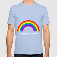Too Gay To Function Mens Fitted Tee Tri-Blue SMALL