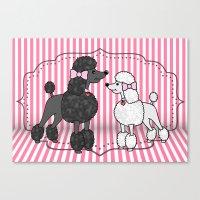 Pretty Poodles Canvas Print