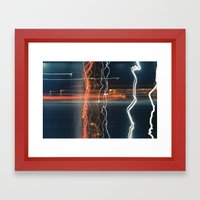 Movement With Light Framed Art Print