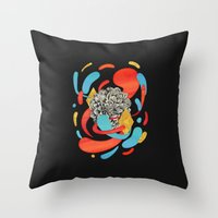 The Flower Fades Throw Pillow