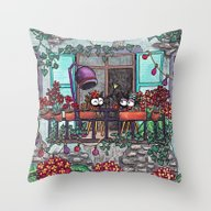 Spiders On The Balcony Throw Pillow