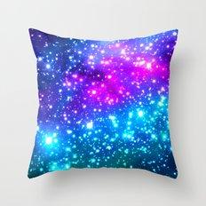 Bright Galaxy Throw Pillow