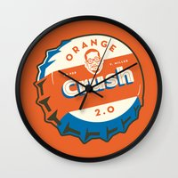 Denver's Orange Crush Defense TWO POINT OH! Wall Clock