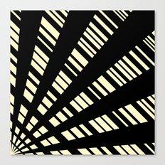 Fancy  |  Cream & Black Canvas Print