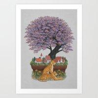 Bonsai Village Art Print