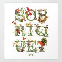 Sobriquet Floral. Art Print