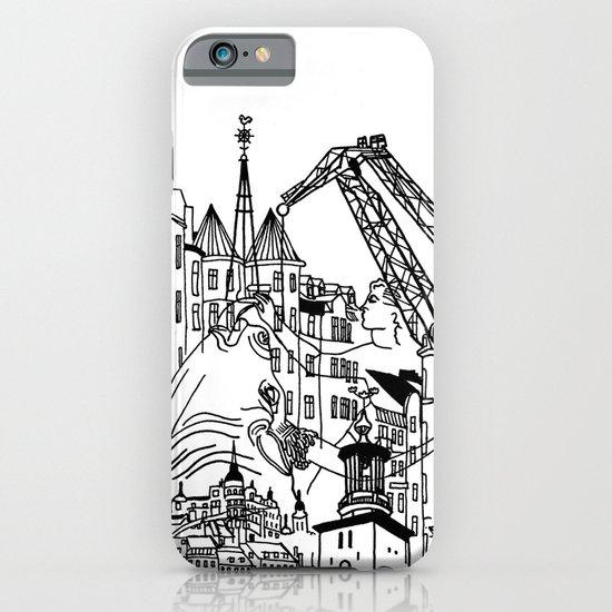 Three City Silhouettes iPhone & iPod Case
