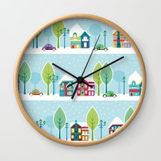 Ski house Wall Clock
