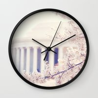 Cherry Blossoms at the Jefferson Memorial Washington DC Wall Clock