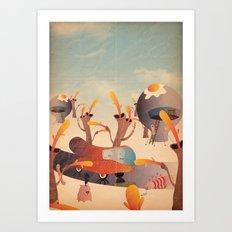 wurstel machine Art Print
