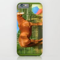 A Horse and Her Ball iPhone 6 Slim Case