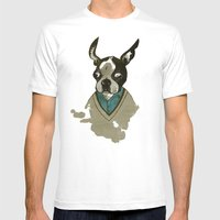 perfect gentleman Mens Fitted Tee White SMALL