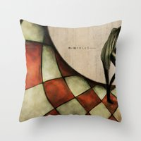 13th Floor with Diana Throw Pillow