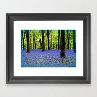 A Haze Of Blue Framed Art Print