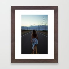 Just walk it off Framed Art Print