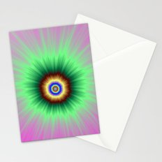 Explosion of Color in Pink and Green Stationery Cards