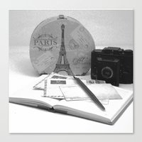 Love Letters From Paris Canvas Print