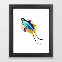 Blue Bird of Paradise Framed Art Print