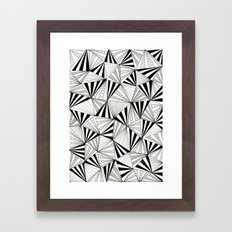 Party Triangles Framed Art Print