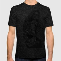 B&W Fashion Illustration… Mens Fitted Tee Tri-Black SMALL