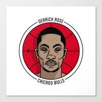 Derrick Rose Badge Illustration Canvas Print
