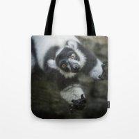Lemur In The Glass Tote Bag