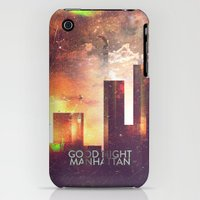 iPhone 3Gs & iPhone 3G Cases featuring Good night Manhattan by HappyMelvin