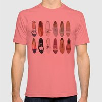 Oxfords Mens Fitted Tee Pomegranate SMALL