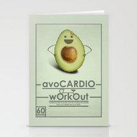 avoCARDIO workout Stationery Cards