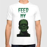 Feed My Frankenstein Mens Fitted Tee White SMALL