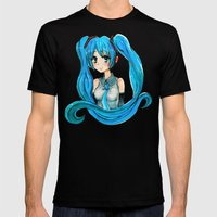 Hatsune Miku Mens Fitted Tee Black SMALL