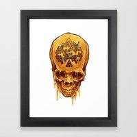 Skull Of Honey Framed Art Print