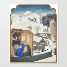 Winter Pigs Canvas Print