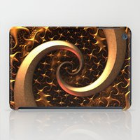 Golden Spirals iPad Case