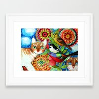 the mandala garden Framed Art Print
