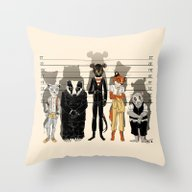 Unusual Suspects Throw Pillow