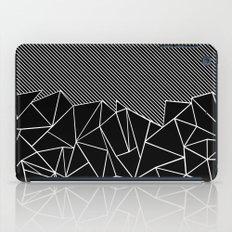 Ab Lines 45 Black iPad Case