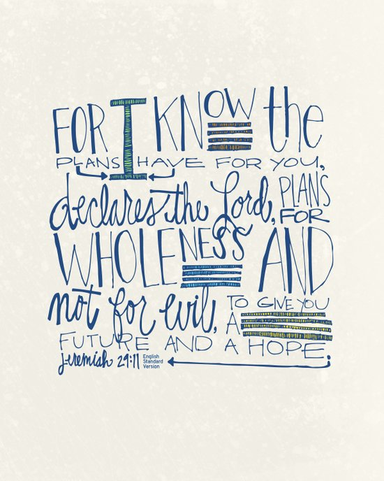 Future - Jeremiah 29:11 Art Print