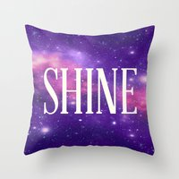 Shine Galaxy  Throw Pillow