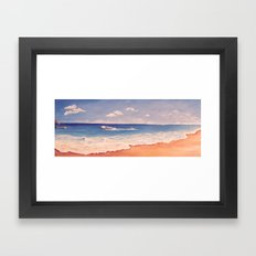 Playing at The Beach Framed Art Print