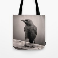 Goth Grackle Tote Bag
