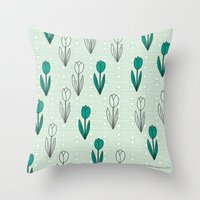 Tulips 03 Throw Pillow