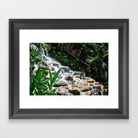 Garden Waterfall Framed Art Print