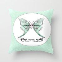 Actias Luna Throw Pillow