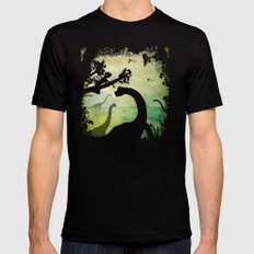 My Friends The Dinosaurs Mens Fitted Tee Black SMALL