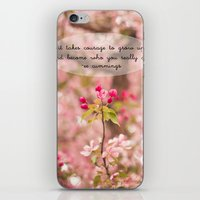 Courage In Growth - Ee C… iPhone & iPod Skin
