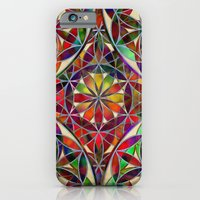 iPhone Cases featuring Flower of Life variation by Klara Acel